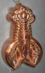 SOLD  Detailed Copper Lobster Mold