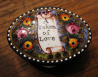 SOLD  An English Enamel Patch Box