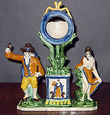 SOLD  A Rare and Fabulous Prattware Watch Hutch