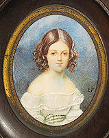 Miniature Portrait on Ivory of a Girl