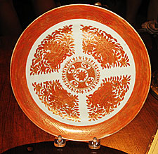 SOLD  Orange Fitzhugh Plate