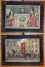 Pair of Hand-colored Prints Commemorating Queen Caroline