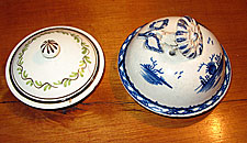 Two Pearlware Covers