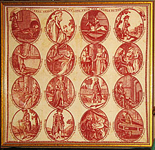 Cotton Printed Handkerchief, c. 1785