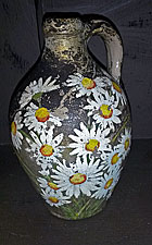 Decorated stoneware jug