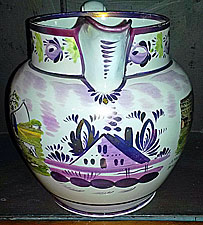 Sunderland Jug / Rare combination decoration