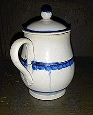 Blue edge pearlware mustard pot