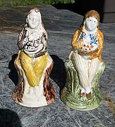 Two Prattware figures