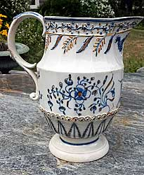 Prattware jug with floral decoration