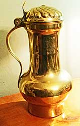 Continental Brass Tankard with Cover