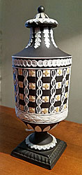 Wedgwood Jasper Diced Tri-color Urn