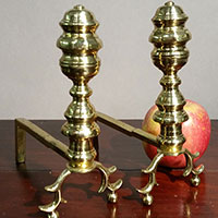 Pair of Miniature Andirons