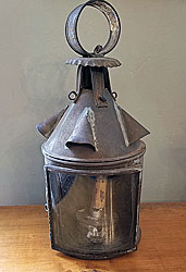 Tin and Glass Early Lantern