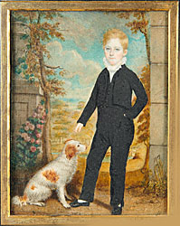 Large Miniature of Boy with Dog