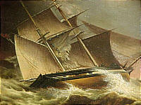 Oil on Canvas of a Ship in a Storm