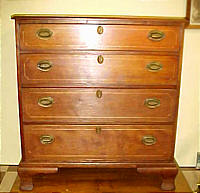SOLD  Connecticut cherry chest of drawers