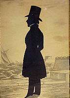 SOLD   Edouart silhouette of Asa Howard of Boston