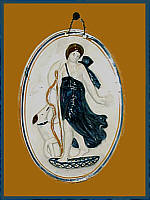 SOLD   Pearlware Plaque of Diana