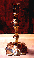 SOLD  Queen Anne Candlestick
