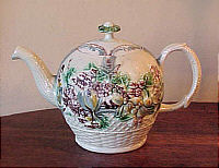 SOLD   Early Creamware Teapot