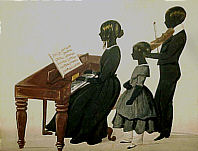 SOLD   Silhouette of Musical Children