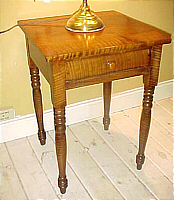 SOLD  Tiger Maple One-Drawer Stand