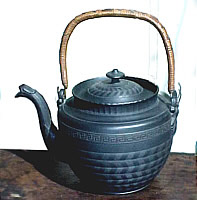 Engine-turned Basalt Kettle