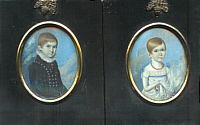 Pair of Miniature Portraits--Brother and Sister