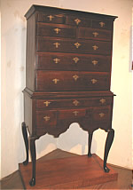 SOLD  DIMINUTIVE RHODE ISLAND QUEEN ANNE HIGHBOY