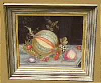 SOLD   STILL LIFE IN FELT AND WOOL