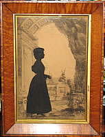 SOLD   Silhouette of Young Lady by Edouart