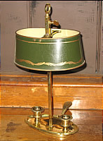 Brass and Tole French Bouillotte Lamp