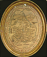 SOLD   Embroidered Map of England and Wales
