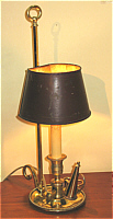 French Brass and Tole Bouillotte Lamp