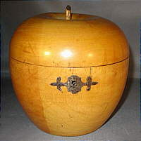 SOLD   Apple Tea Caddy